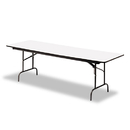 ICEBERG ENTERPRISES ICE55227 Premium Wood Laminate Folding Table, Rectangular, 72w X 30d X 29h, Gray/charcoal
