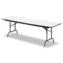 ICEBERG ENTERPRISES ICE55237 Premium Wood Laminate Folding Table, Rectangular, 96w X 30d X 29h, Gray/charcoal