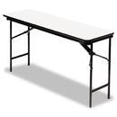 ICEBERG ENTERPRISES ICE55287 Premium Wood Laminate Folding Table, Rectangular, 72w X 18d X 29h, Gray/charcoal
