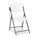ICEBERG ENTERPRISES ICE64003 Rough N Ready Series Resin Folding Chair, Steel Frame, Charcoal