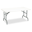 ICEBERG ENTERPRISES ICE65213 Indestructables Too 1200 Series Resin Folding Table, 60w X 30d X 29h, Platinum