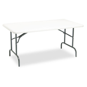 Indestructable Too 1200 Series Resin Folding Table, 60W X 30D X 29H, Platinum, Price/EA
