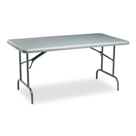 IndestrucTable TOO 1200 Series Resin Folding Table, 60w x 30d x 29h, Charcoal, Price/EA