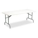 ICEBERG ENTERPRISES ICE65223 Indestructables Too 1200 Series Resin Folding Table, 72w X 30d X 29h, Platinum