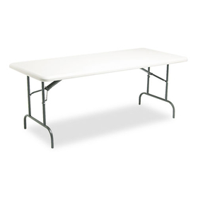 Indestructable Too 1200 Series Resin Folding Table, 72W X 30D X 29H, Platinum, Price/EA