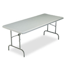ICEBERG ENTERPRISES ICE65227 Indestructables Too 1200 Series Resin Folding Table, 72w X 30d X 29h, Charcoal