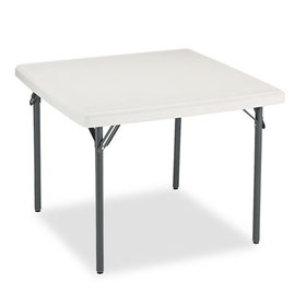 ICEBERG ENTERPRISES ICE65273 IndestrucTables Too 1200 Series Resin Folding Table, 37w x 37d x 29h, Platinum, Price/EA