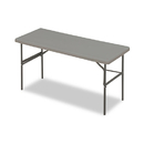 ICEBERG ENTERPRISES ICE65377 Indestructables Too 1200 Series Resin Folding Table, 60w X 24d X 29h, Charcoal