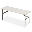 ICEBERG ENTERPRISES ICE65383 Indestructables Too 1200 Series Resin Folding Table, 72w X 24d X 29h, Platinum