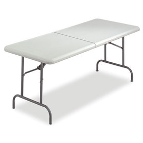Indestructable Too Bifold Resin Folding Table, 60W X 30D X 29H, Platinum, Price/EA