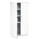ICEBERG ENTERPRISES ICE92553 Officeworks Resin Storage Cabinet, 33w X 18d X 66h, Platinum
