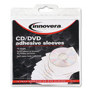 INNOVERA IVR39402 Self-Adhesive Cd/dvd Sleeves, 10/pack