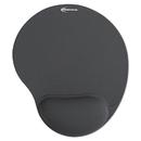 INNOVERA IVR50449 Mouse Pad W/gel Wrist Pad, Nonskid Base, 10-3/8 X 8-7/8, Gray
