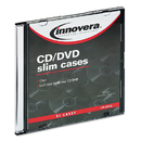 INNOVERA IVR85826 Cd/dvd Polystyrene Thin Line Storage Case, Clear, 50/pack
