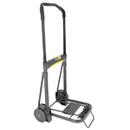 KANTEK INC. KTKLGLC200 Ultra-Lite Folding Cart, 250lb Capacity, 11 X 13 1/4 Platform, Black