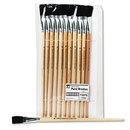 CHARLES LEONARD, INC LEO73575 Long Handle Easel Brush, Size 18, Natural Bristle, Flat, 12/pack