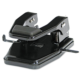 "40-Sheet Heavy-Duty Two-Hole Punch, 9/32"" Holes, Padded Handle, Black, Price/EA"