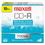 Maxell MAX648210 CD-R Discs, 700MB/80min, 48x, w/Slim Jewel Cases, Silver, 10/Pack
