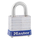 MASTER LOCK COMPANY MLK7D Four-Pin Tumbler Lock, Laminated Steel Body, 1 1/8