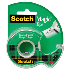"3M/COMMERCIAL TAPE DIV. MMM105 Magic Tape w/Refillable Dispenser, 3/4"" x 300"", Clear, Price/RL"