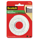 3M/COMMERCIAL TAPE DIV. MMM110 Foam Mounting Double-Sided Tape, 1/2