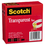 "3M/COMMERCIAL TAPE DIV. MMM6002P3472 Transparent Tape 600 2P34 72, 3/4"" x 2592"", 3"" Core, Transparent, 2/Pack"