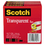 "3M/COMMERCIAL TAPE DIV. MMM600723PK Transparent Tape 600 72 3PK, 1"" x 2592"", 3"" Core, Transparent, 3/Pack"