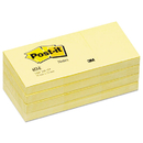 3M/COMMERCIAL TAPE DIV. MMM653YW Original Pads In Canary Yellow, 1 1/2 X 2, 100-Sheet, 12/pack