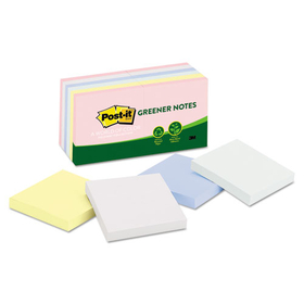 Recycled Pastel Notes, 3 X 3, Sunwashed Pier, 12 100-Sheet Pads/Pack, Price/PK
