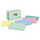 3M/COMMERCIAL TAPE DIV. MMM655AST Original Pads In Marseille Colors, 3 X 5, 100-Sheet, 5/pack