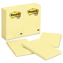 3M/COMMERCIAL TAPE DIV. MMM659YW Original Pads In Canary Yellow, 4 X 6, 100-Sheet, 12/pack