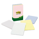 3M/COMMERCIAL TAPE DIV. MMM660RPA Greener Note Pads, Lined, 4 X 6, Assorted Helsinki Colors, 100-Sheet, 5/pack