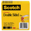"3M/COMMERCIAL TAPE DIV. MMM6652P1236 665 Double-Sided Tape, 1/2"" x 1296"", 3"" Core, Transparent, 2/Pack"