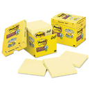 3M/COMMERCIAL TAPE DIV. MMM67512SSCP Canary Yellow Note Pads, Lined, 4 X 4, 90-Sheet, 12/pack
