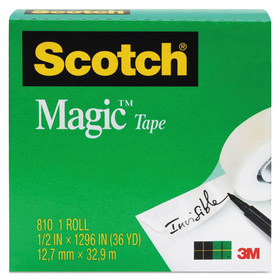 "Magic Tape, 3/4"" x 1296"", 1"" Core, Clear, Price/RL"