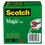 "3M/COMMERCIAL TAPE DIV. MMM810723PK Magic Tape, 1"" X 2592"", 3"" Core, 3/pack"