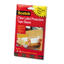 3M/COMMERCIAL TAPE DIV. MMM822P Scotchpad Label Protection Tape Sheets, 4 X 6, Clear, 25/pad, 2 Pads/pack