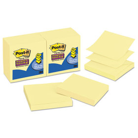 Super Sticky Pop-Up Refill, 3 x 3, Canary Yellow, 12 90-Sheet Pads/Pack, Price/PK