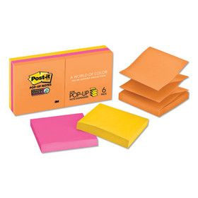 Pop-Up Refill, 3 X 3, 3 Jewel Pop Colors, 6 90-Sheet Pads/Pack, Price/PK