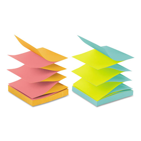 Pop-Up Refills, 3 X 3, 4 Alternating Neon Colors, 12 100-Sheet Pads/Pack, Price/PK