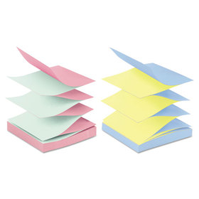 Pop-Up Refills, 3 x 3, 4 Alternating Ultra Colors, 12 100-Sheet Pads/Pack, Price/PK