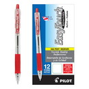 PILOT CORP. OF AMERICA PIL32222 Easytouch Retractable Ball Point Pen, Red Ink, 1mm, Dozen