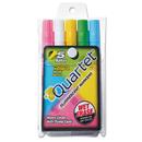 ACCO BRANDS QRT5090 Glo-Write Fluorescent Marker Five-Color Set, Assorted, 5/set