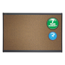 ACCO BRANDS QRTB244G Prestige Bulletin Board, Brown Graphite-Blend Surface, 48 X 36, Aluminum Frame