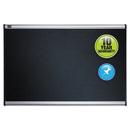 ACCO BRANDS QRTB344A Embossed Bulletin Board, Hi-Density Foam, 48 X 36, Black, Aluminum Frame