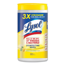 LAGASSE, INC. RAC77182CT Disinfecting Wipes, Lemon And Lime Blossom, White, 7 X 8, 80/can, 6 Cans/ct