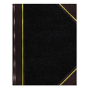 REDIFORM OFFICE PRODUCTS RED57131 Texthide Record Book, Black/burgundy, 300 Green Pages, 14 1/4 X 8 3/4