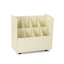SAFCO PRODUCTS SAF3045 Laminate Mobile Roll Files, Eight Compartments, 30-1/8 X 15-3/4 X 29-1/4, Putty