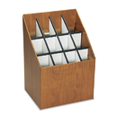 SAFCO PRODUCTS SAF3079 Corrugated Roll Files, 12 Compartments, 15w X 12d X 22h, Woodgrain