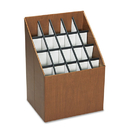 SAFCO PRODUCTS SAF3081 Corrugated Roll Files, 20 Compartments, 15w X 12d X 22h, Woodgrain